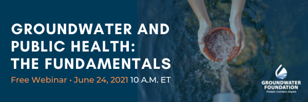 Groundwater and Public Health Webinar image header