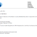 Board of Directors Meeting Notice